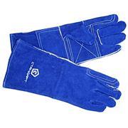 Краги спилковые синие подкладка Сапфир кевлар фото
