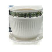 Горшок для цветов керамический Антика №2 Белый фото