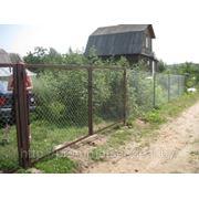 Ворота въездные из сетки-рабицы