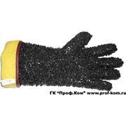 Перчатки с напылением на пальцах и ладонях из крупной крошки фото