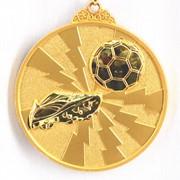 Медаль рельефная Футбол золото фото