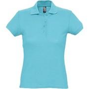 Рубашка поло женская PASSION 170 бирюзовая, размер L фото