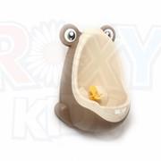 Писсуар для мальчиков с прицелом бежево-коричневый Лягушка фото