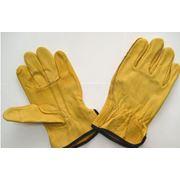 Перчатки кожаные рабочие фото