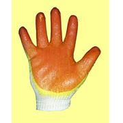 Перчатки трикотажные с двойным латексным покрытием фото