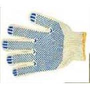 Перчатки х/б с ПВХ точка (5-инитка) фото