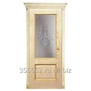 Межкомнатная дверь Александрия-2, золотая патина фото