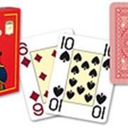 """Карты для покера """"Modiano Poker"""" 100% пластик, Италия, красная рубашка фото"""