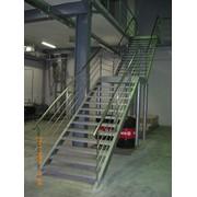 Лестницы для офиса, бара и ресторана, бассейна, складские и промышленные. фото