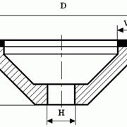 Круги из кубического нитрида бора (КНБ) чашечные конические на керамической связке формы 12А2 с углом 45° фото