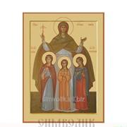 Икона св. мцц. Вера, Надежда, Любовь и мать их София для авто