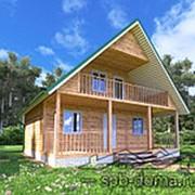 Проект дома из профилированного бруса 8,0 х 8,0 м «Волхов» фото