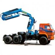 Седельный тягач КАМАЗ-65225 с гидроманипулятором ИМ-240 фото