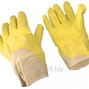 Перчатки с латексным покрытием, манжет - крага, арт. 0475, арт. 193 фото