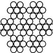 Канат из нержавеющей стали DIN 3055 (7x7) ф0,72 фото
