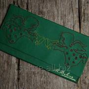 Кожаный конверт для денег с «Рождеством» фото