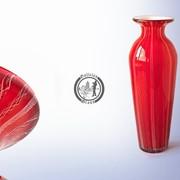 Функционально-декоративная ваза из стекла, ручной работы. Артикул 0158 фото