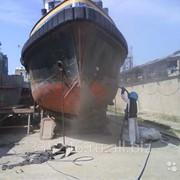 Пескоструйная обработка кораблей фото