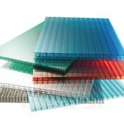 Сотовый поликарбонат, цветной, толщиной 6 мм, вес 1,3 кг/м2, размер 2100*6000 фото