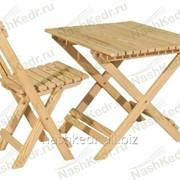 Столик складной (из комплекта) (800x600 мм), лиственница фото