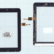 Сенсорное стекло (тачскрин) AD-C-700291-CC(LOCA)-RG черный, Диагональ 7 фото