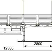 Полуприцеп двухосный бортовой 9334-24-10 с кониками фото