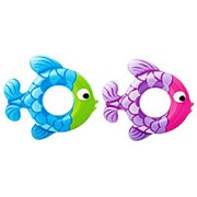 "Круг для плавания ""Рыбка розово-фиолетовая"" 77 × 76 см INTEX, от 3 до 6 лет фото"