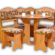 Кухонный уголок с круглым столом столом КУ-03 873х873х740 фото