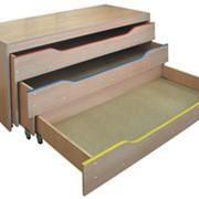 Мебель для детских комнат, Кровать трехъярусная выдвижная ДК-213