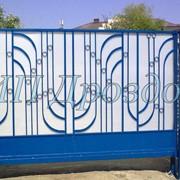 Ворота откатные с калиткой фото