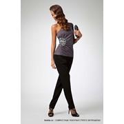 Блузка темно-серая фото