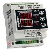 Терморегулятор ТК-5 6А/220V, t -55*+125*, 2-канальный фото