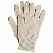 Перчатки Х/Б 7,5 класс, белые, 2 нити без ПВХ фото