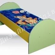 Ліжко дитяче з заоваленими спинками 1400х600 фото