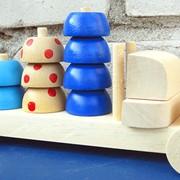 Конструктор деревянный Автомобиль со сферами 524218 260х110х180 фото