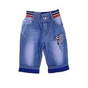 27c57f6e3bf Оригинальные джинсовые бриджи голубого цвета на резинке 20 фото