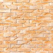 Искусственный камень — Античный кирпич 03-171 персиковый сланец фото