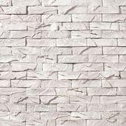 Искусственный камень — Античный кирпич 03-010 белый фото