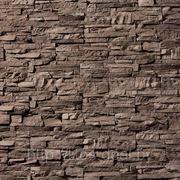 Искусственный камень — СКАЛА 02-680 КОРИЧНЕВЫЙ фото