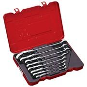 Набор универсальных ключей с двойным карданом и трещоткой, дюймовый, 9 предметов фото