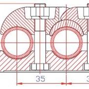 Опорный зажим для трех полых проводов (тип ОЗПП) фото