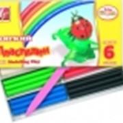 Пластилин мягкий 6 цветов фото