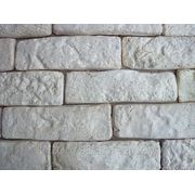 Керамическая декоративная плитка ручной работы «Белый кирпич» фото