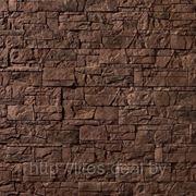 Искусственный камень — Каменная мозаика 11-790, цвет коричневый фото