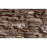 Камень декоративный искусственный «Сланец» -Коричневый фото