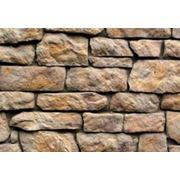 Камень декоративный искусственный «Английский» рыже-коричневый фото