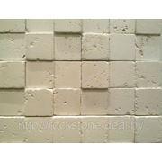 Камень искусственный декоративный ТРАВЕРТИН 3D — белый фото