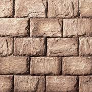 Искусственный камень — Датский цоколь 05-205, цвет Бежево-коричневый фото