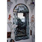 Реставрация интерьерного антиквариата, стекла, зеркал фото