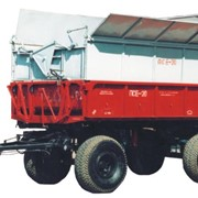 Прицеп-емкость специальная ПСЕ-20 обеспечивает эффективное использование его в работе с кормоуборочными комбайнами и при перевозке измельченной растительной массы. фото